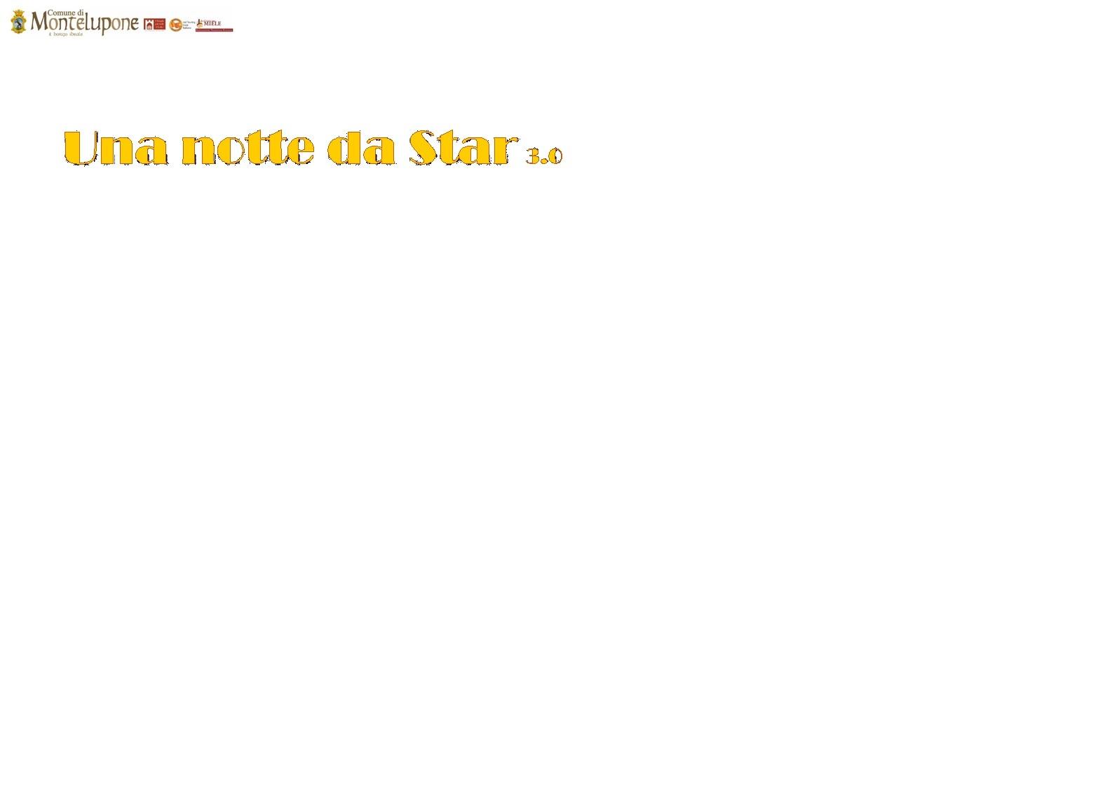Una Notte da Star 3.0